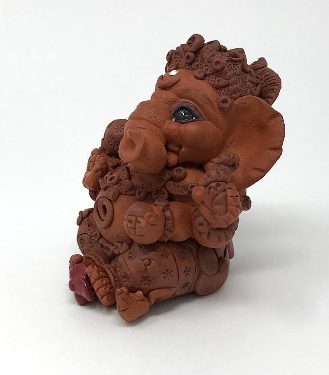 Brigitte Saugstad Ganesha Simple-5 10x10x9 E