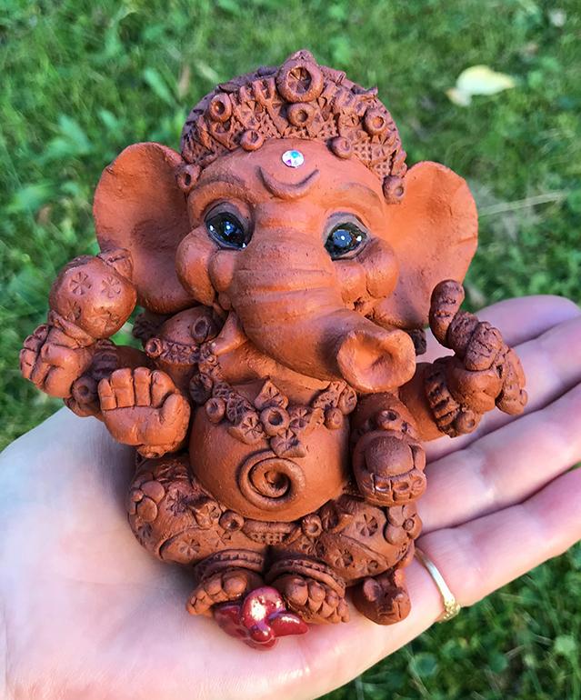 Brigitte Saugstad Ganesha Simple-5 10x10x9 G