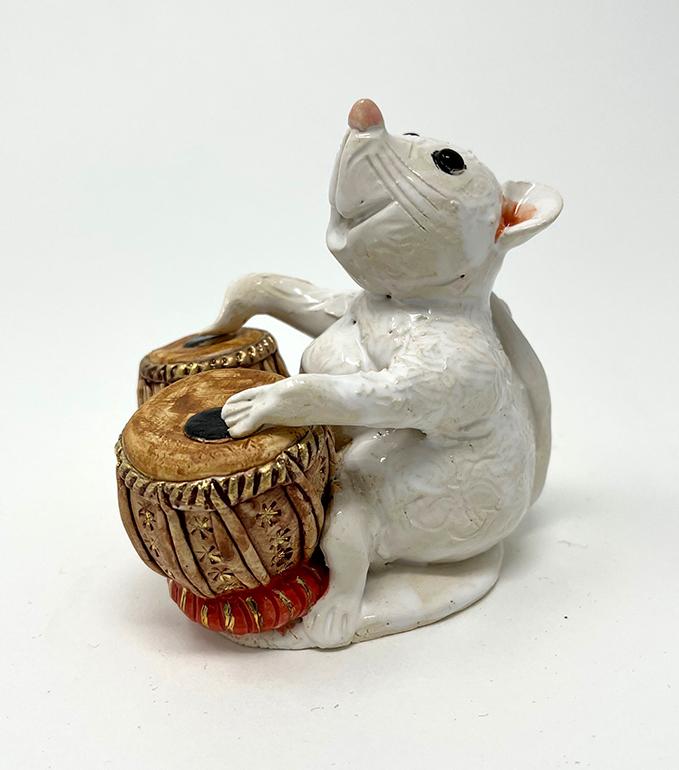 Brigitte Saugstad Mouse -12 ceramic statue, sculpture, idol, figurine B