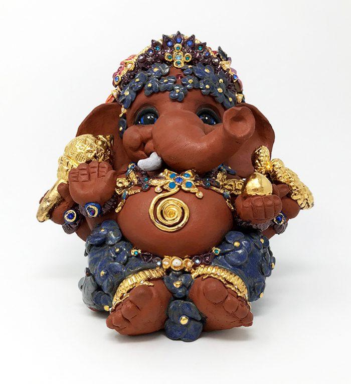 Brigitte Saugstad Ganesha- Enfant Fleur 21x22x19 B