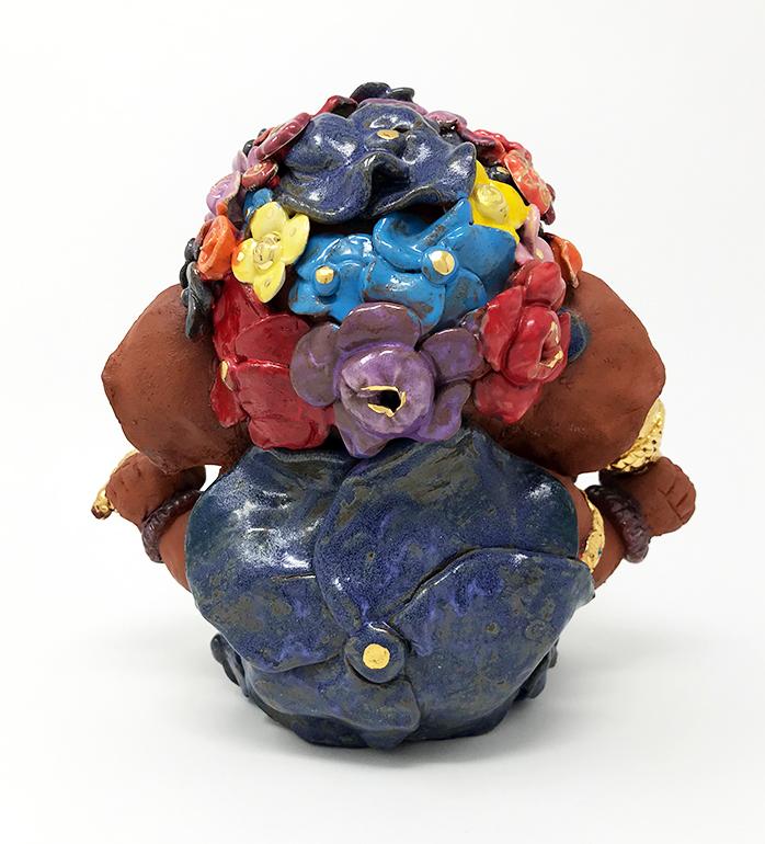 Brigitte Saugstad Ganesha- Enfant Fleur 21x22x19 D