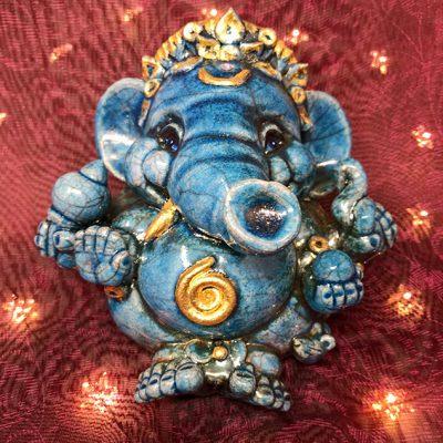 Brigitte Saugstad Ganesha Raku-6 H
