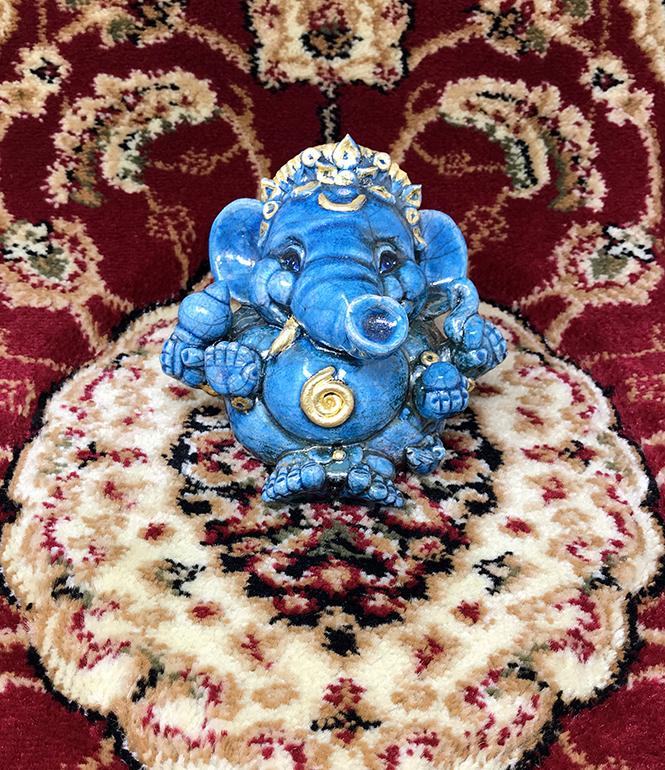 Brigitte Saugstad Ganesha Raku-6 I