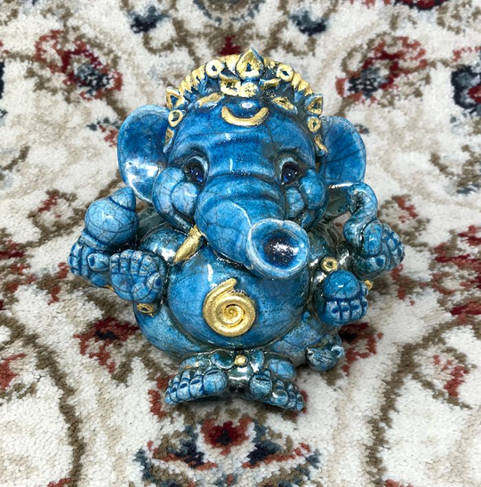 Brigitte Saugstad Ganesha Raku-6 J