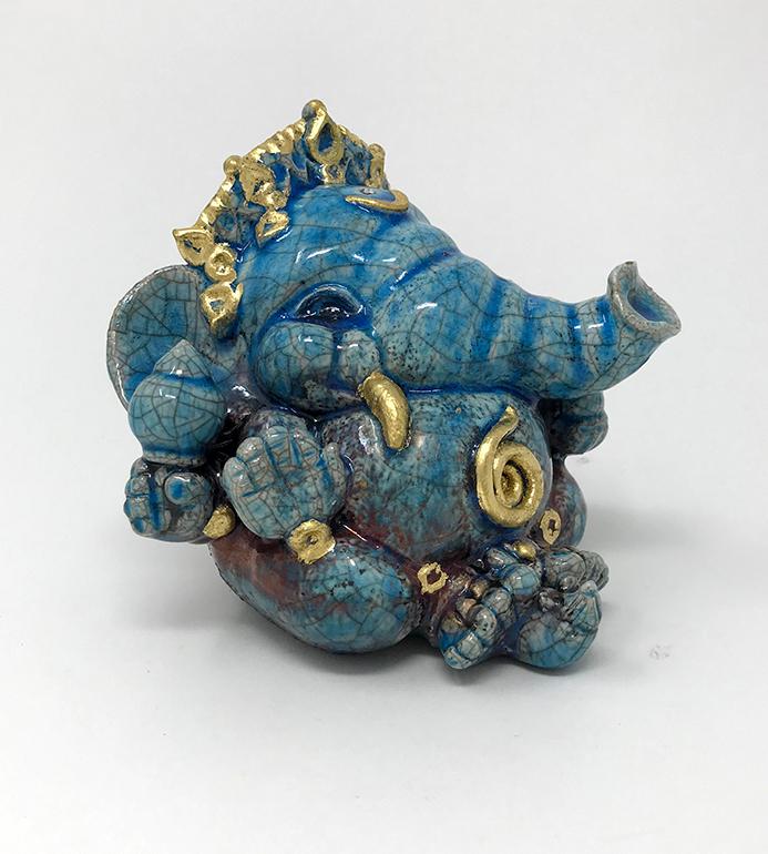 Brigitte Saugstad Ganesha Raku-8