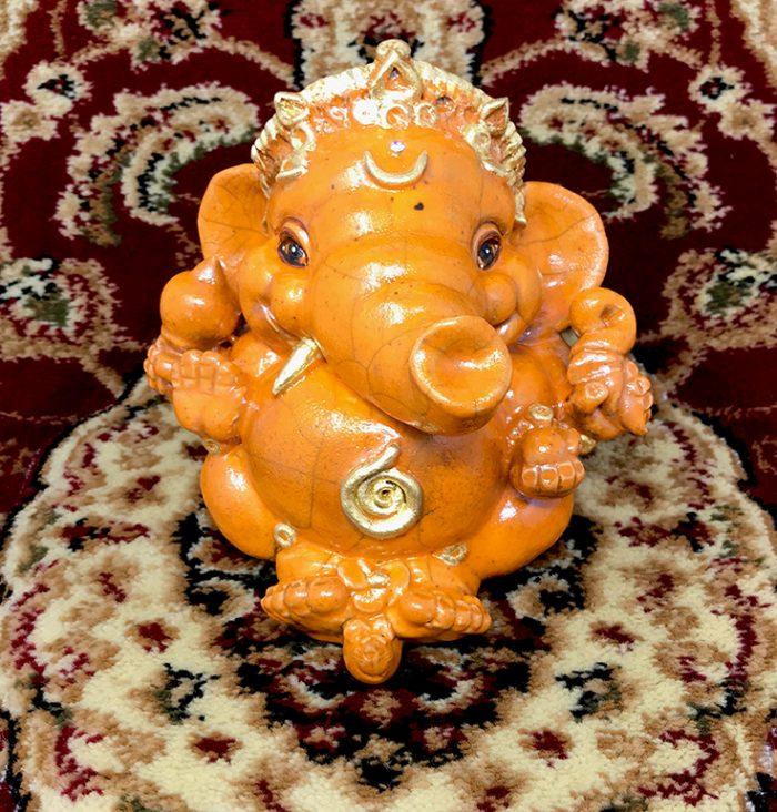 Brigitte Saugstad Ganesha Raku-9 H