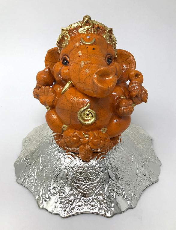 Brigitte Saugstad Ganesha Raku-9 I
