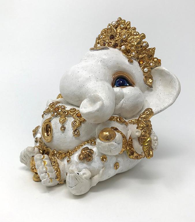 Brigitte Saugstad Ganesha Royal-10 13x14x12 E