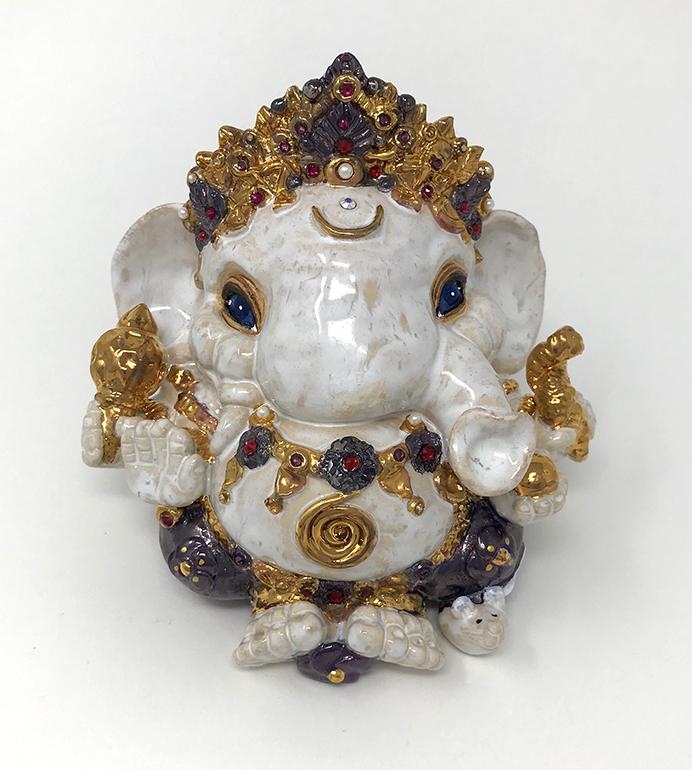 Brigitte Saugstad Ganesha Royal-11 13x14x11 A
