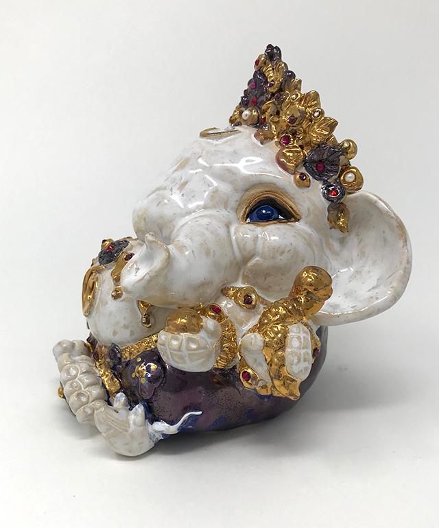 Brigitte Saugstad Ganesha Royal-11 13x14x11 E