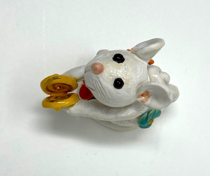 Brigitte Saugstad Mouse -11 ceramic statue, sculpture, idol, figurine E