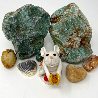 Brigitte Saugstad Mouse -11 ceramic statue, sculpture, idol, figurine F