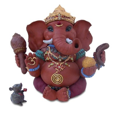 Brigitte Saugstad Ganesha with mouse