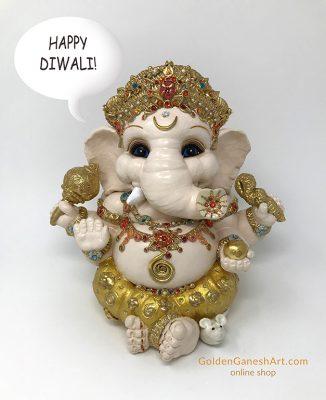 Brigitte Saugstad happy Diwali 2020 Ganesha