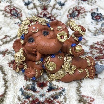 Brigitte Saugstad Ganesha Reclining-3 A