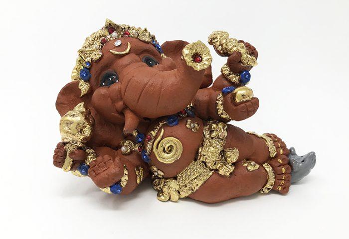 Brigitte Saugstad Ganesha Reclining-3 D