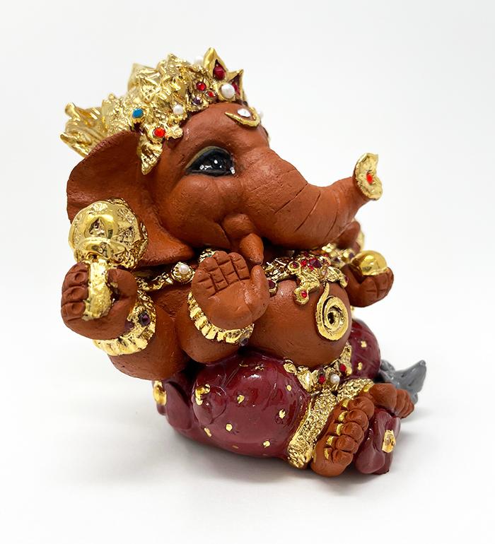 Brigitte Saugstad Ganesha Royal-20 ceramic statue, sculpture, idol, figurine, elephant C