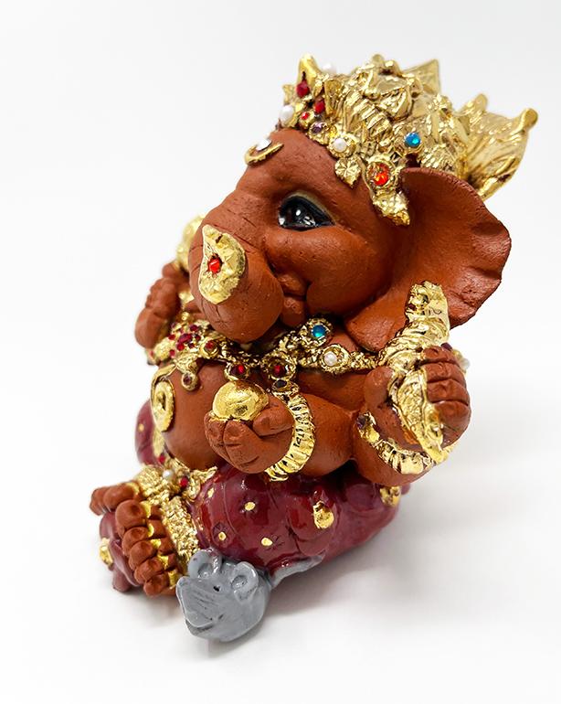 Brigitte Saugstad Ganesha Royal-20 ceramic statue, sculpture, idol, figurine, elephant E