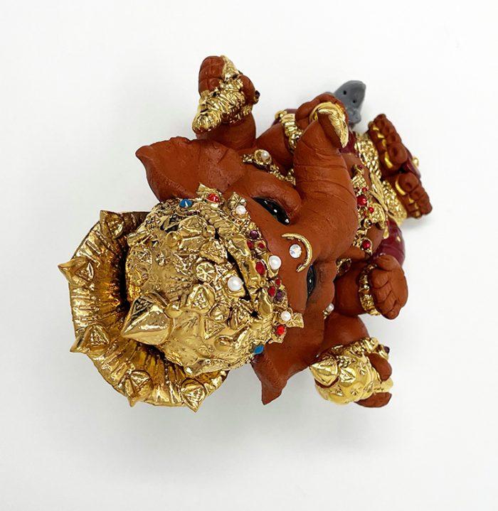 Brigitte Saugstad Ganesha Royal-20 ceramic statue, sculpture, idol, figurine, elephant F