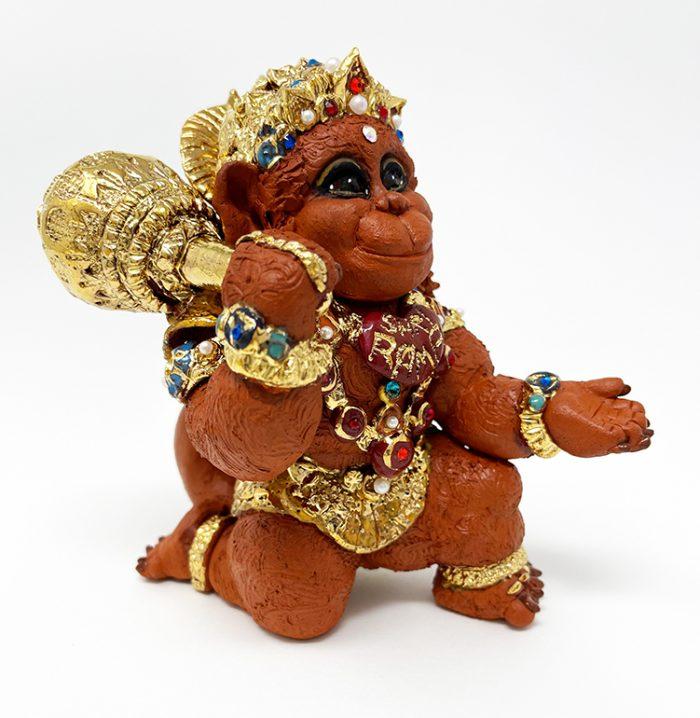 Brigitte Saugstad Hanuman Royal-12 ceramic statue, sculpture, idol, figurine, monkey D