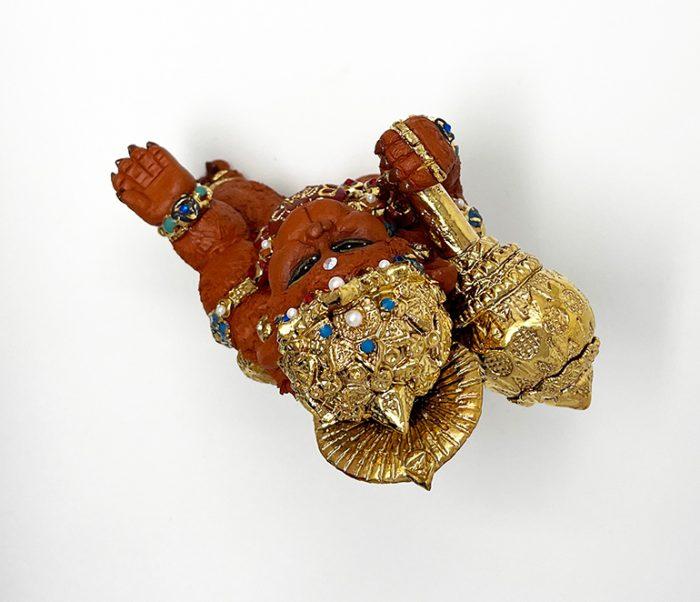 Brigitte Saugstad Hanuman Royal-12 ceramic statue, sculpture, idol, figurine, monkey G