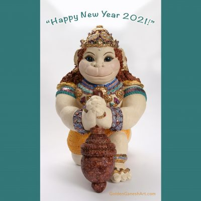 Cabella Castle Hanuman, 2021 New Year, Brigitte Saugstad