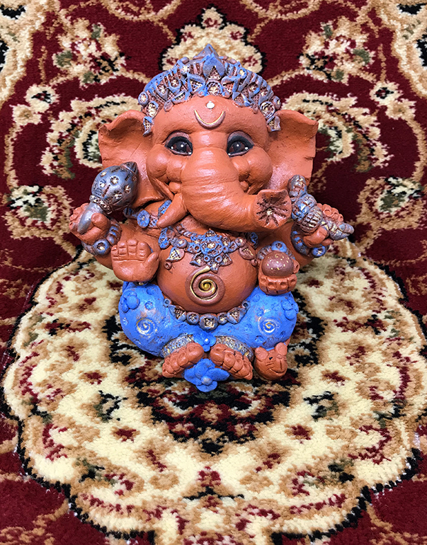 Brigitte Saugstad Ganesha Simple-Glazes-4 A