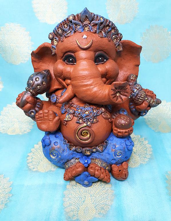 Brigitte Saugstad Ganesha Simple-Glazes-4 C