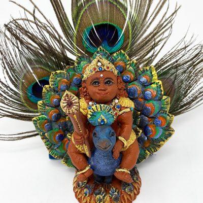 Brigitte Saugstad Kartikeya-1A ceramic statue, sculpture, idol, figurine