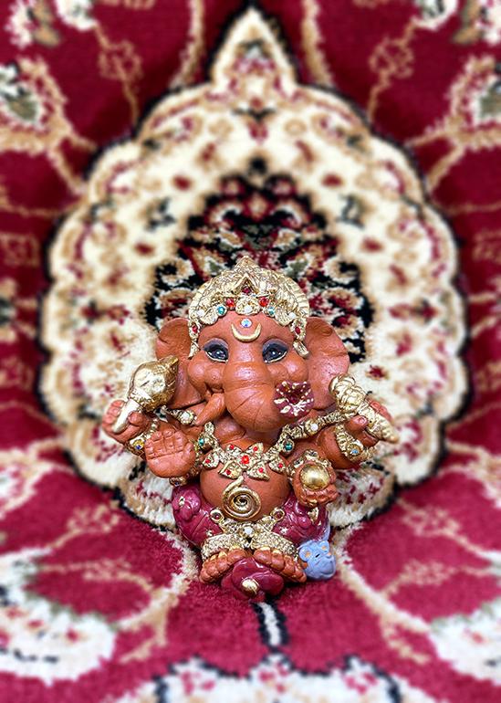 Brigitte Saugstad Ganesha Royal-18A ceramic statue, sculpture, idol, figurine, elephant