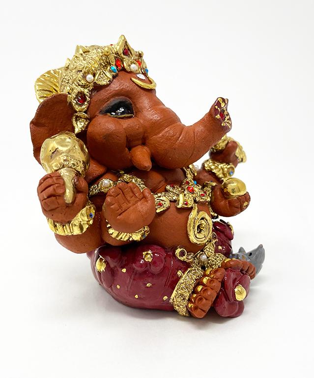Brigitte Saugstad Ganesha Royal-18C ceramic statue, sculpture, idol, figurine, elephant