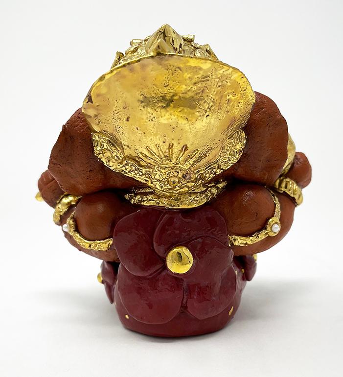 Brigitte Saugstad Ganesha Royal-18D ceramic statue, sculpture, idol, figurine, elephant