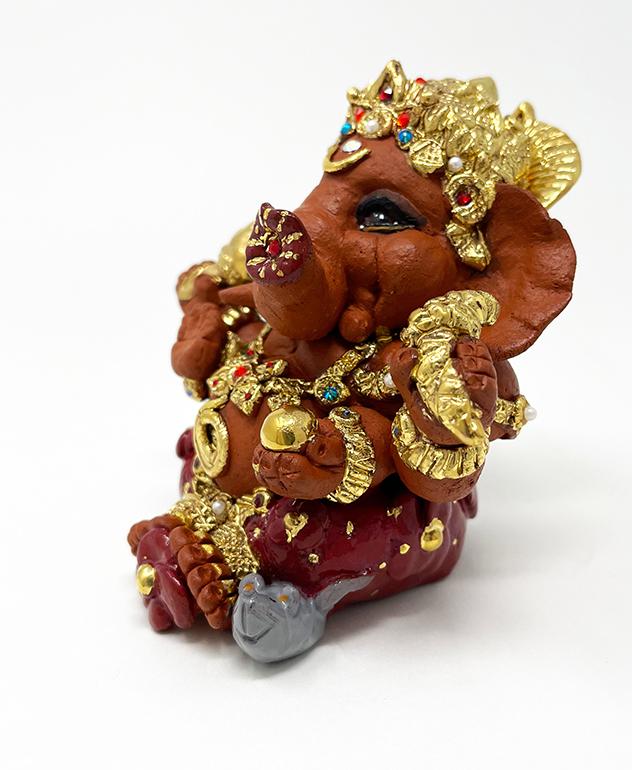 Brigitte Saugstad Ganesha Royal-18E ceramic statue, sculpture, idol, figurine, elephant