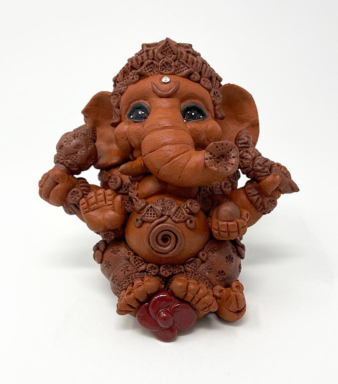Brigitte Saugstad Ganesha Simple-6 statue, sculpture, figurine, elephant -D