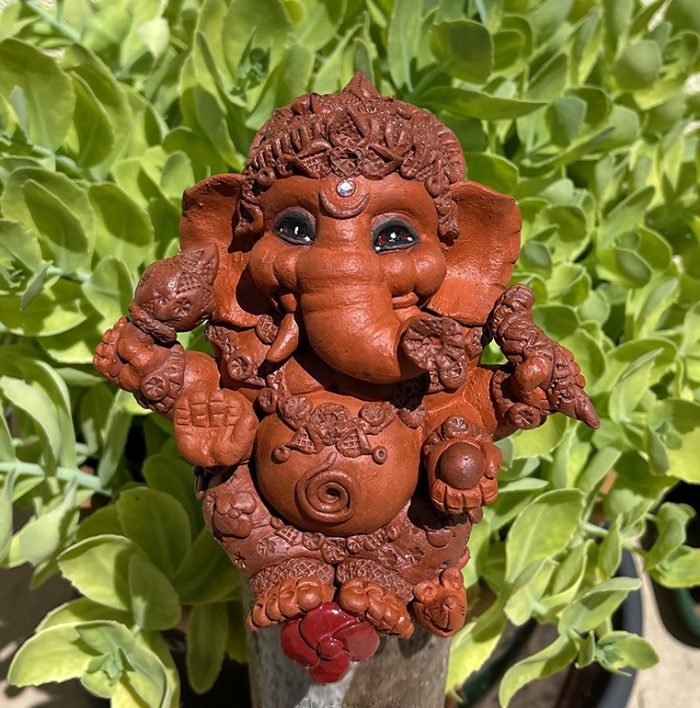 Brigitte Saugstad Ganesha Simple-7 ceramic statue, sculpture, idol, figurine, elephant A