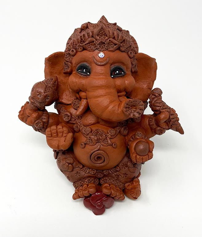 Brigitte Saugstad Ganesha Simple-7 ceramic statue, sculpture, idol, figurine, elephant B