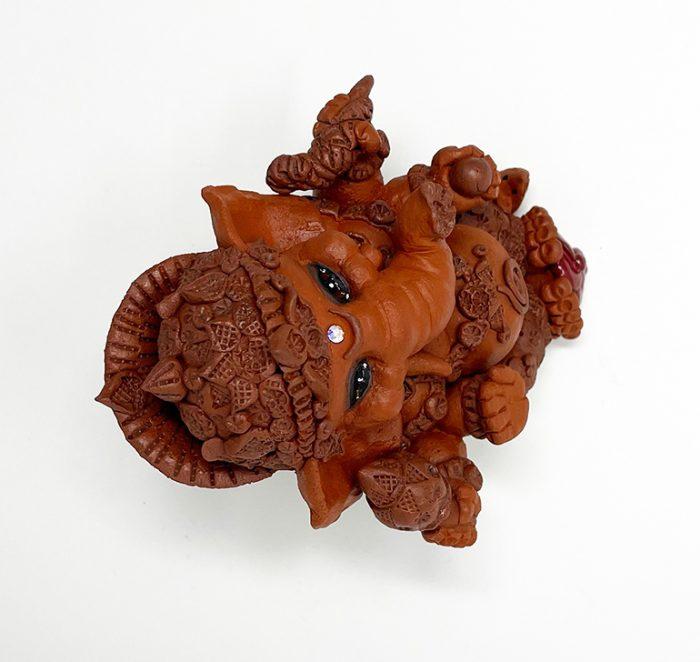 Brigitte Saugstad Ganesha Simple-7 ceramic statue, sculpture, idol, figurine, elephant G