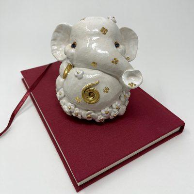 Brigitte Saugstad Ganesha Simple-Glazes-5 statue, sculpture, figurine, elephant -B