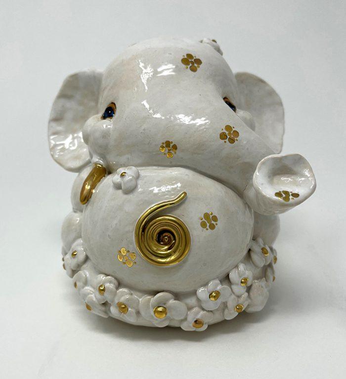 Brigitte Saugstad Ganesha Simple-Glazes-5 statue, sculpture, figurine, elephant -D