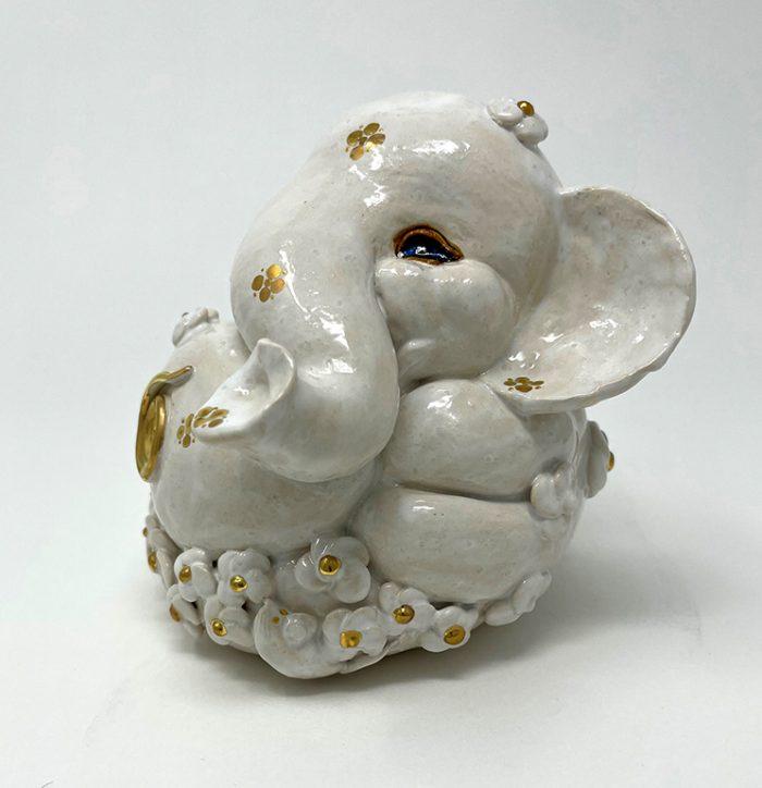 Brigitte Saugstad Ganesha Simple-Glazes-5 statue, sculpture, figurine, elephant -F