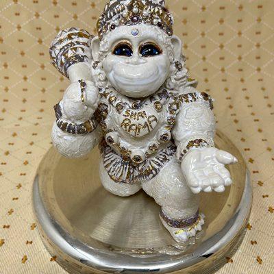Brigitte Saugstad Hanuman Royal-7 statue, sculpture, figurine, monkey -A
