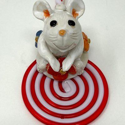 Brigitte Saugstad Mouse-10 statue, sculpture, figurine, mouse -A