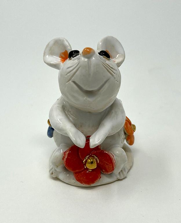 Brigitte Saugstad Mouse-10 statue, sculpture, figurine, mouse -B