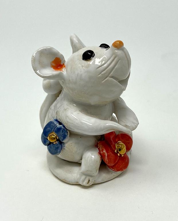 Brigitte Saugstad Mouse-10 statue, sculpture, figurine, mouse -C