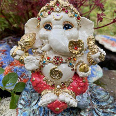 Brigitte Saugstad Ganesha Royal-19 ceramic statue, sculpture, idol, figurine, elephant A