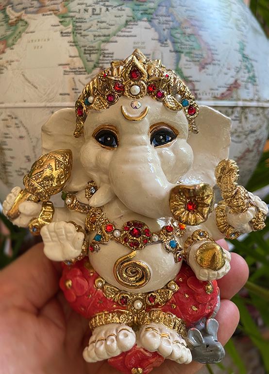 Brigitte Saugstad Ganesha Royal-19 ceramic statue, sculpture, idol, figurine, elephant B