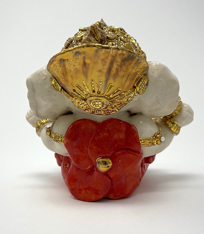 Brigitte Saugstad Ganesha Royal-19 ceramic statue, sculpture, idol, figurine, elephant F