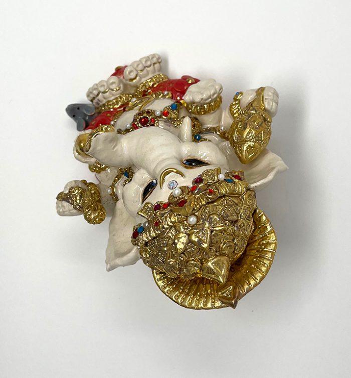Brigitte Saugstad Ganesha Royal-19 ceramic statue, sculpture, idol, figurine, elephant H