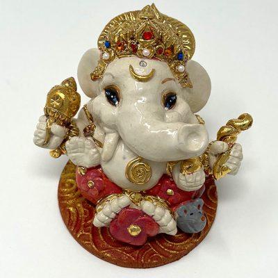 Brigitte Saugstad Ganesha Royal-21 7x9x9 ceramic statue, sculpture, idol, figurine, elephant A