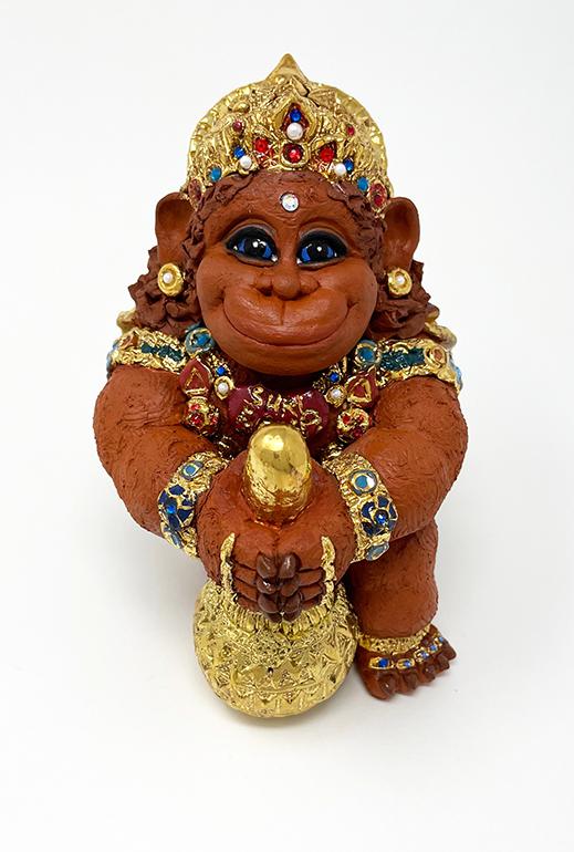 Brigitte Saugstad Hanuman Royal-10 ceramic statue, sculpture, idol, figurine, monkey B